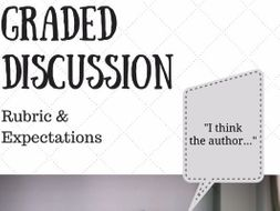 Graded Discussion Rubric and 50 Discussion Starter Stems for Secondary ELA