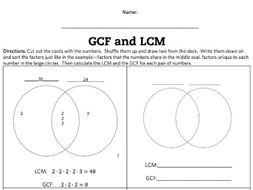 Lcm and gcf venn diagram activity and game by flippyfeets teaching lcm and gcf venn diagram activity and game ccuart Gallery