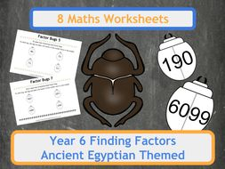 Factor Scarab Beetles (Factor Bugs) for Year 6 Classes