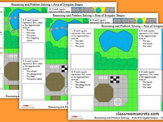 Year 5 Area of Irregular Shapes WRM Perimeter and Area Reasoning and Problem Solving