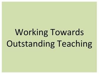 Teacher CPD: Working Towards Outstanding Teaching