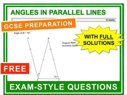 GCSE 9-1 Exam Question Practice (Angles in Parallel Lines)