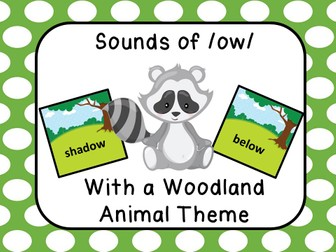 Sounds of /ow/ Woodland Animal Theme