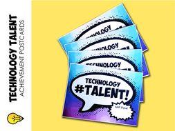 Technology : Talent Postcards (rewards & achievement)