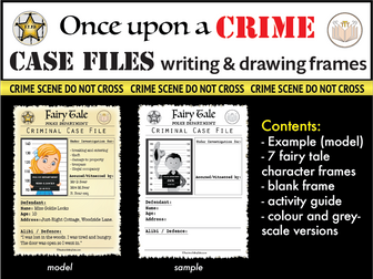Fairytale Crime Case File Writing Frames