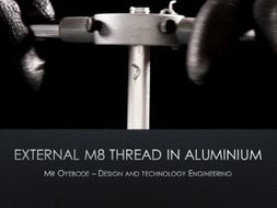 External M8 thread using tap and die
