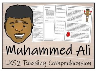 LKS2 Literacy - Muhammed Ali Reading Comprehension Activity