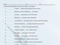 Future Perfect Tense Matching Spanish Worksheet By Eslfungames