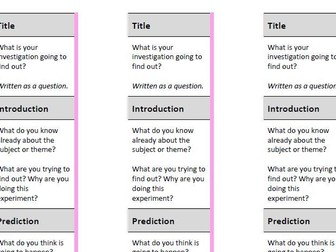 Structure Strips for Science Writing
