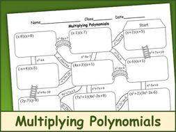 Multiplying Polynomials Maze