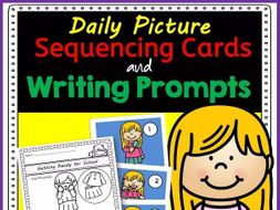 Picture Writing Prompts with Sequencing Cards for Daily Writing