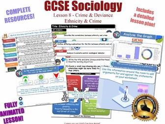Ethnicity, Crime & Criminality - Crime & Deviance L8/20 [ AQA GCSE Sociology - 8192] Race Ethnic NEW