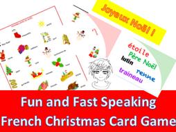 Christmas Cards Game  Jeu de cartes de Noël | Teaching Resources