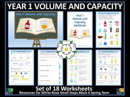 Volume and Capacity - Year 1 - Spring Term - 18 Worksheets - White Rose Maths Style