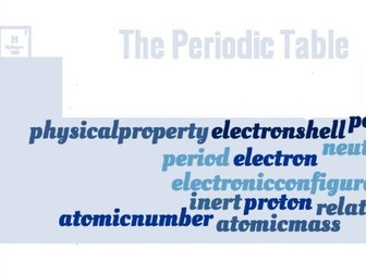 Elements & The Periodic Table Crossword - EDEXCEL GCSE (9-1) Combined Science Paper 3 & 4