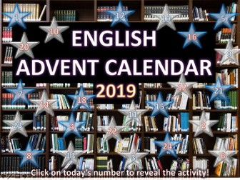 English Christmas Quiz Advent Calendar