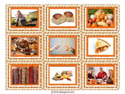 Thanksgiving Card Game 4 Pages = 36 Cards