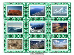 Geology & Planet Earth Cards 4 Pages = 36 Cards