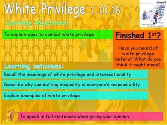 Black History Month: White Privilege