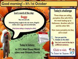 Morning Challenge Slides (October)