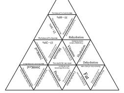 GCSE PE AQA 9-1 Energy use, Diet & Nutrition Tarsia