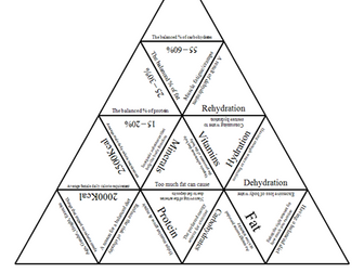 GCSE PE AQA 9-1 FULL PAPER 2 Tarsia Triangle Puzzle Set by