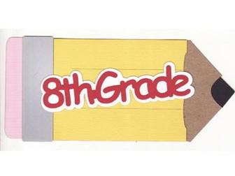 8th Grade Math/Algebra - Graphical Representations and Random Samples Scientific Notation