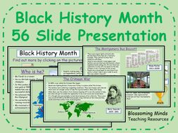 Black History Month - 56 page presentation