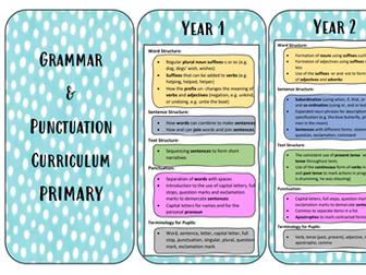 Grammar and Punctuation Curriculum Flashcards