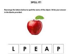 Unscramble Spelling Activities (for special ed., preschool, and kindergarten)
