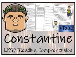 LKS2 History - Constantine Reading Comprehension Activity