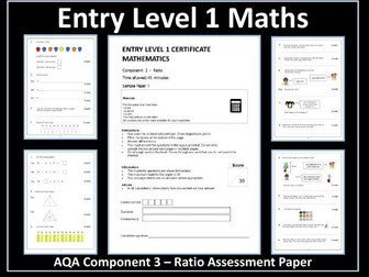 AQA Entry Level Maths Assessment - Ratio