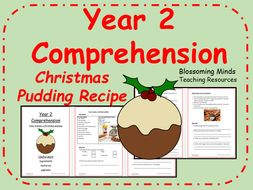 Christmas Pudding Recipe Comprehension - Year 2