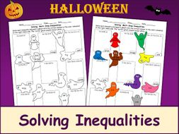 Solving Inequalities Halloween