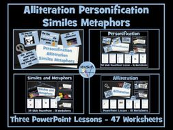 Personification, Alliteration, Similes and Metaphors