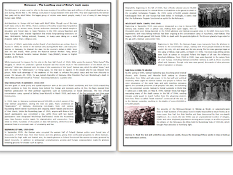 Holocaust – The horrifying story of  the WWII death camps - Reading Comprehension Worksheet