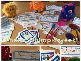 Phonic Olympic Games  2017  Phonic Screen build up fun!  Year 1 Year 2 Phonics Olympics au aw air ee