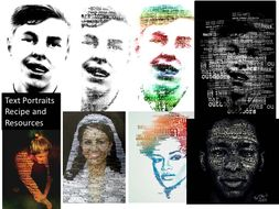 Text/ Typography Portrait Resources