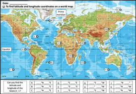 Finding-latitude-and-longitude-coordinates-on-a-world-map---activity---easier.pptx