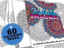 60 mandala coloring pages   Kaleidomania: Printable Adult Coloring Book   PDF