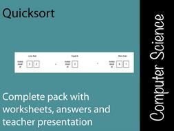 Quicksort - Lesson pack