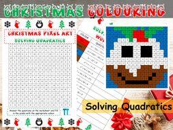 Christmas maths GCSE revision on solving quadratics