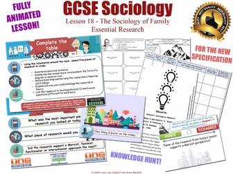 Essential Research - Family - L18/20 [ WJEC EDUQAS GCSE Sociology] Families - Researchers