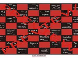 Adjectives Checker Board Game