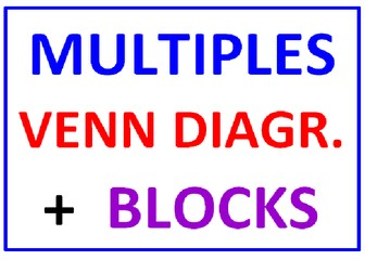 Multiples And VENN Diagrams PLUS Multiples BLOCKS (4 Worksheets)