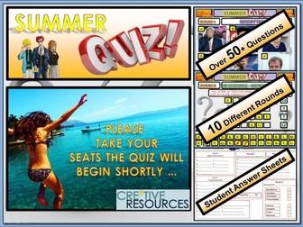 Summer Quiz 2018 ! End of Term Quiz