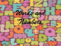 Words and Numbers - Songs