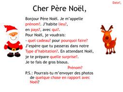 Lettre Pour Le Pere Noel.French Christmas Lettre Au Père Noël