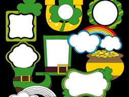 St Patricks Day Frames New Clipart For Irish Day By Revidevi