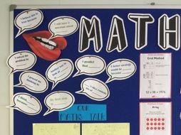 Display: Maths Language Sentence Starters